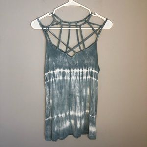 AEO Womens Cage Neck Strappy Tie Dye Tank Top M